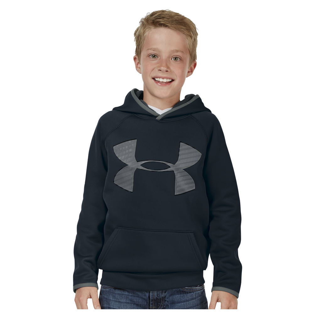 Under Armour Boys' Highlight Hoodie Black Knit Tops S 820496BLKS