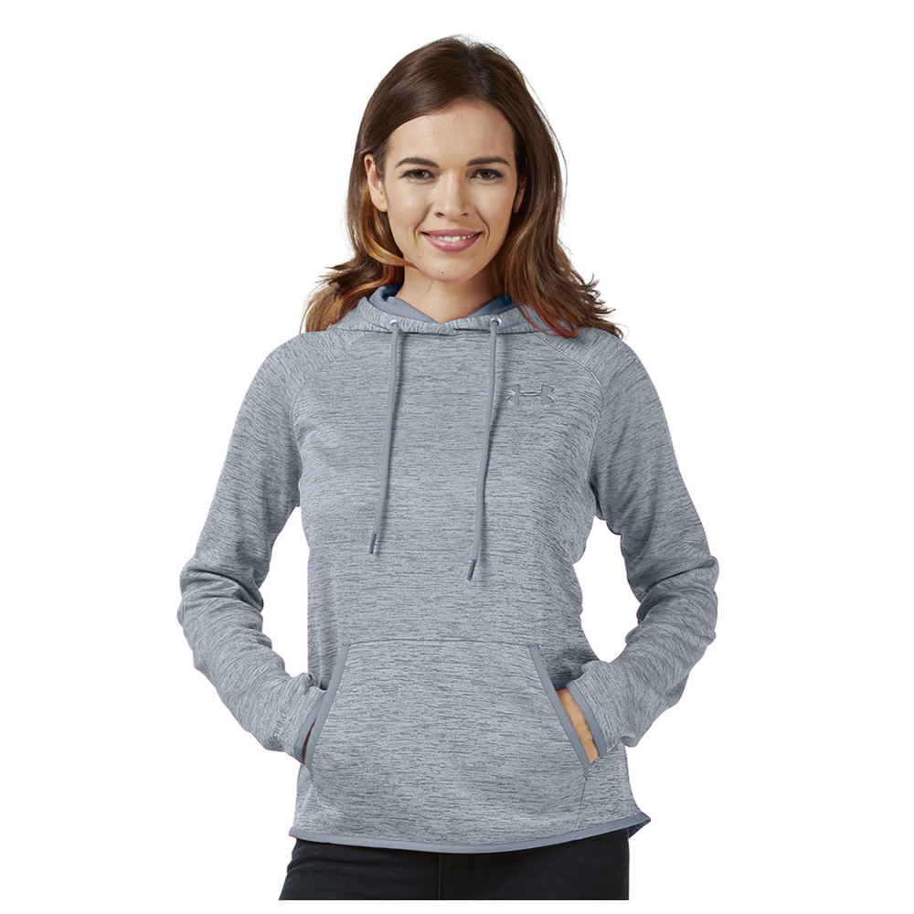 Women's Under Armour Icon Fleece Hoodie Grey Knit Tops XL 710282STLXL