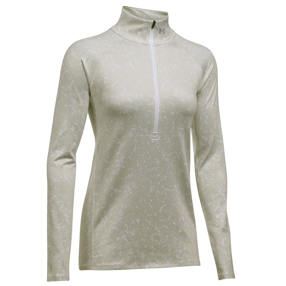 Under Armour Coldgear Infrared EVO 1/2 Zip Grey Knit Tops M 710290GLAM