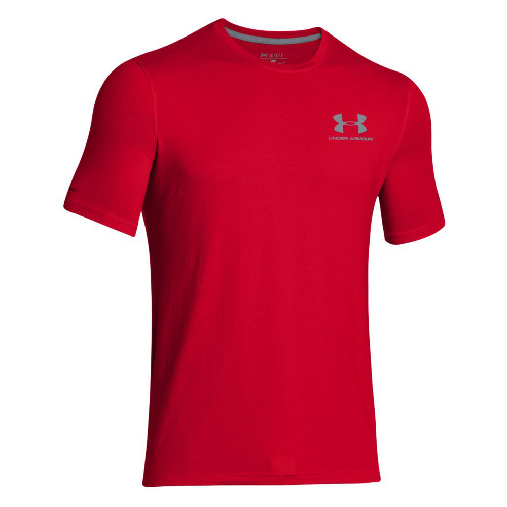 Under Armour Men's Charged Cotton Sportstyle Tee Red Knit Tops XXXL 710390RED3XL