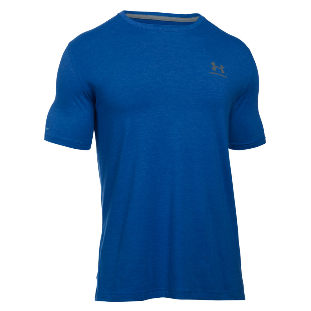 Under Armour Men's Charged Cotton Sportstyle Tee Blue Knit Tops L 710390RYLL