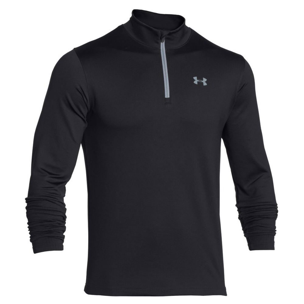 Under Armour Men's Armour 1/4 Zip Black Knit Tops M 710392BLKM