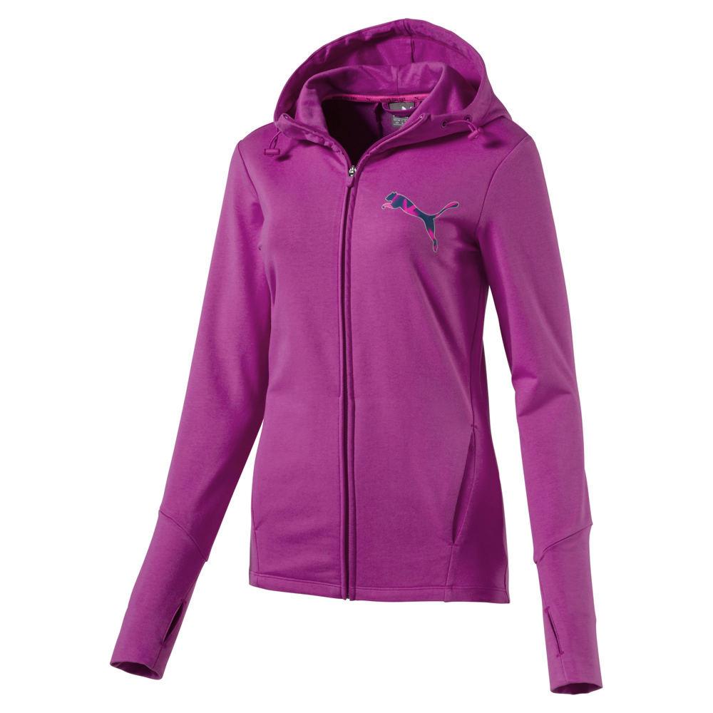 Puma Elevated Full Zip Hoodie Pink Knit Tops L 710370RSEL