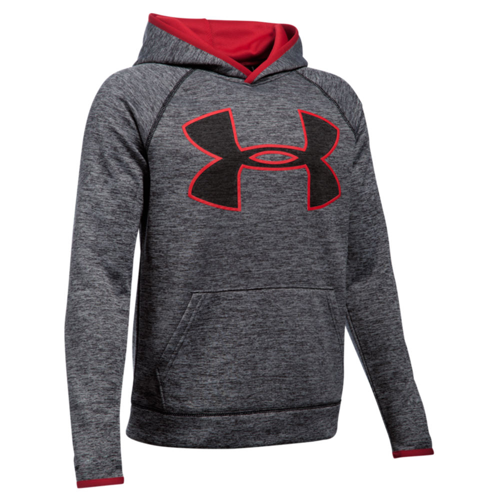 Under Armour Boys' ArmourR Fleece Storm Twist Highlight Hoodie Black Knit Tops M 820910BLKM