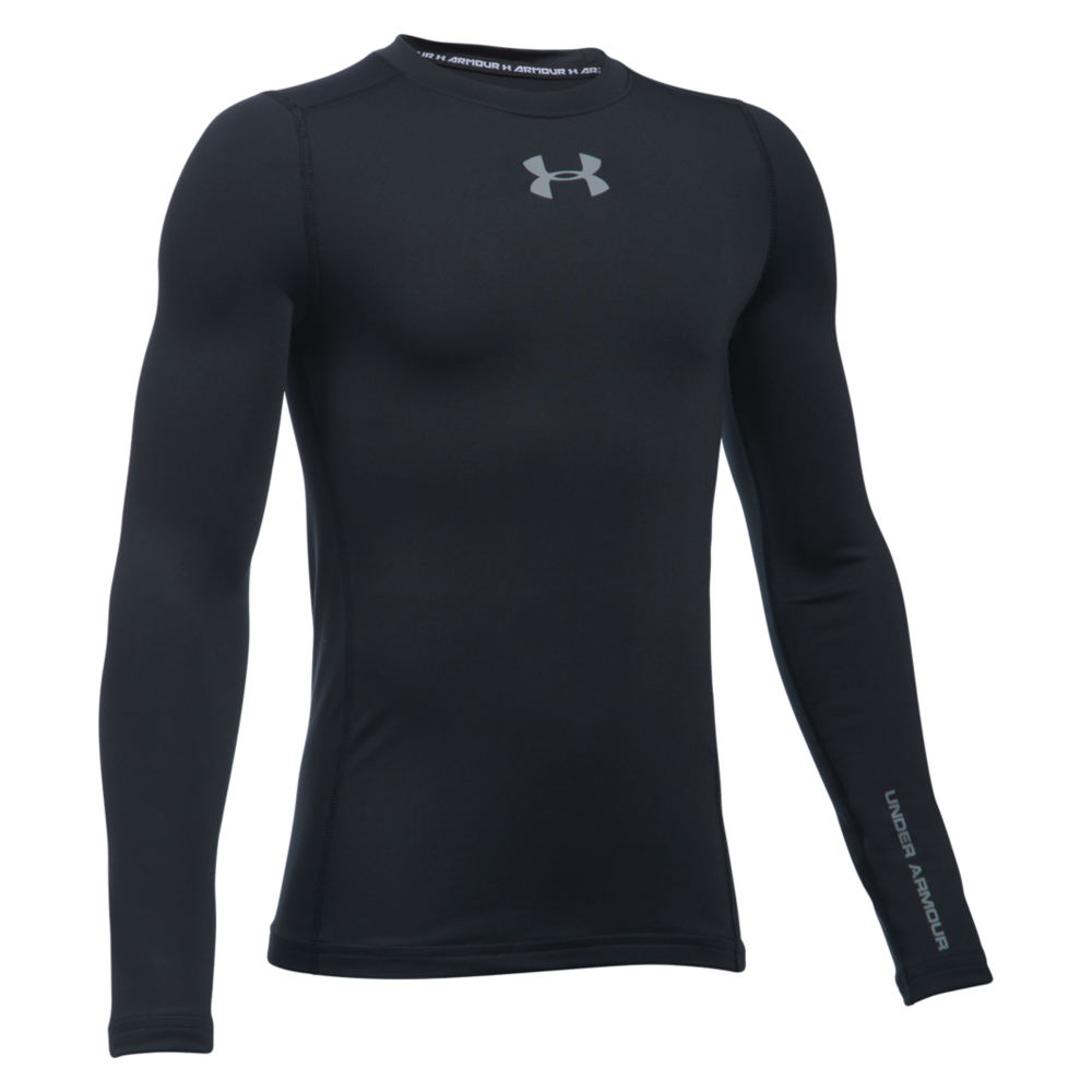 Under Armour Boys' ColdgearR Armour Crew Longsleeve Black Knit Tops L 820911BLKL