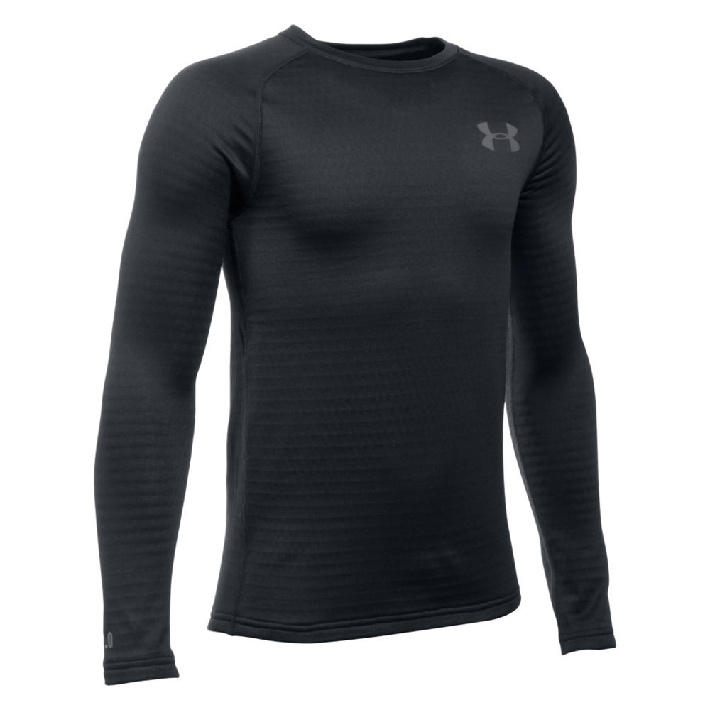 Under Armour Kids' Base 2.0 Crew Black Knit Tops M 820923BLKM