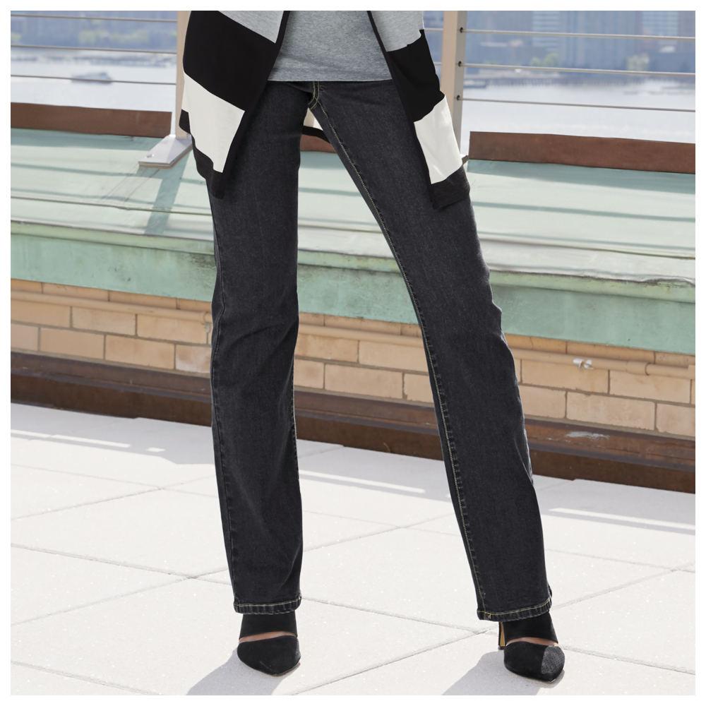 Stretch Waist Boot Cut Jeans 710586BLK18