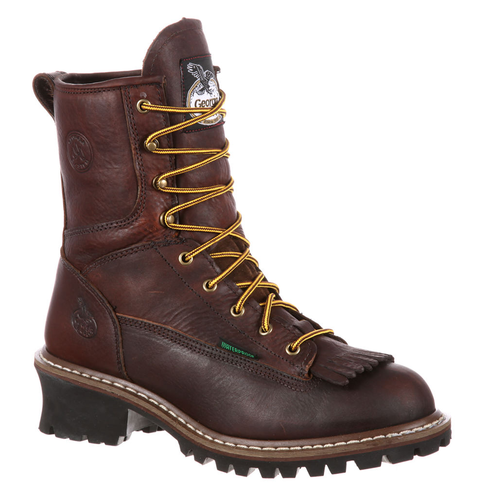 "Georgia Boot Logger 8"" Safety Toe WP Men's Brown Boot 7 M 643146CHC070M"