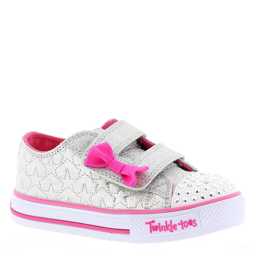 Skechers Twinkle Toes Shuffles Starlight Style (Girls' Infant-Toddler) 821252SLV080M