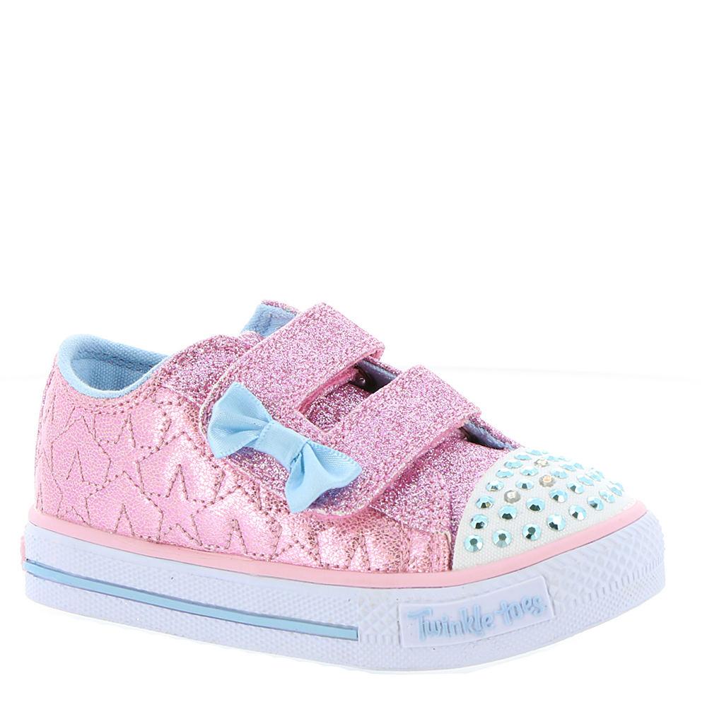 Skechers Twinkle Toes Shuffles Starlight Style (Girls' Infant-Toddler) 821990PNK100M