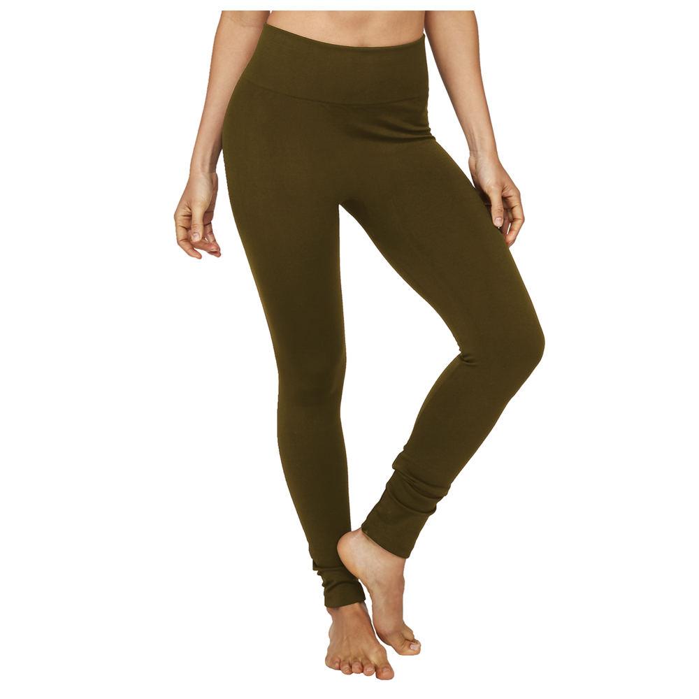 Genie Fleece-Lined Leggings Brown Pants M-Regular