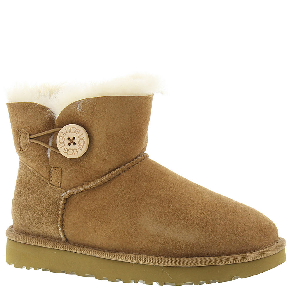 UGG Mini Bailey Button II Women's Brown Boot 6 M