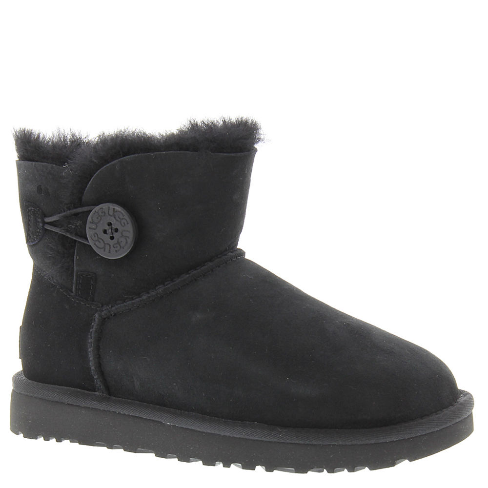 UGG Mini Bailey Button II Women's Black Boot 7 M