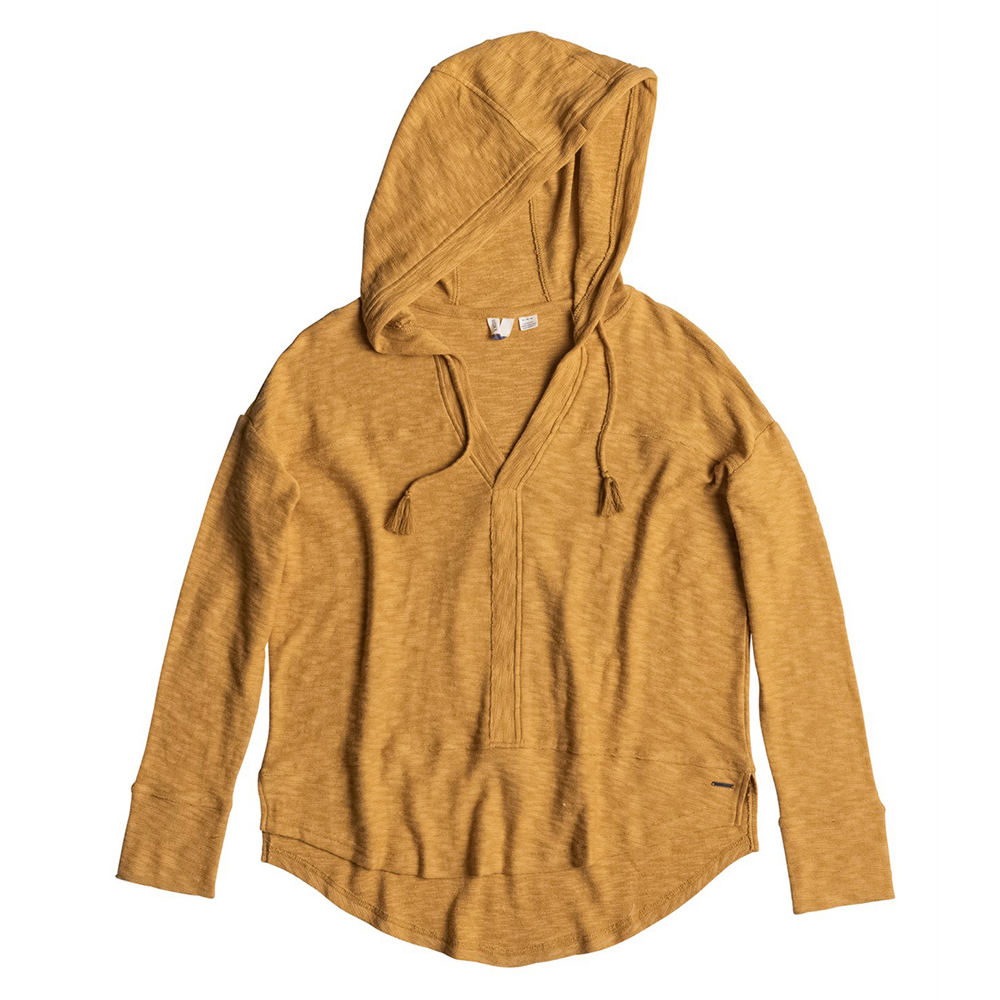 Roxy Sportswear Good Vibrations Hoodie Yellow Knit Tops XS 710746HOMXS