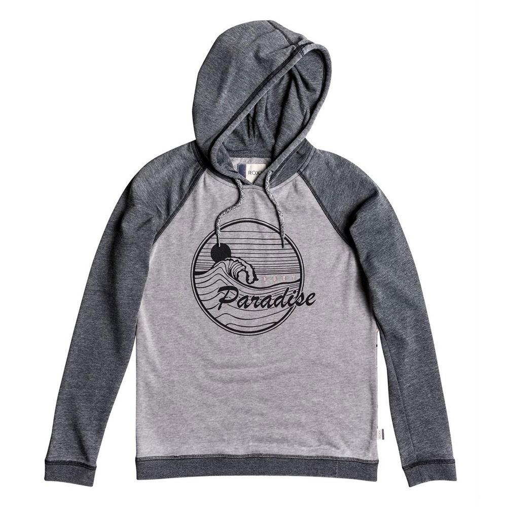 Roxy Sportswear Misses Palm Bazaar Fleece Paradise Hoodie 710764BLKM