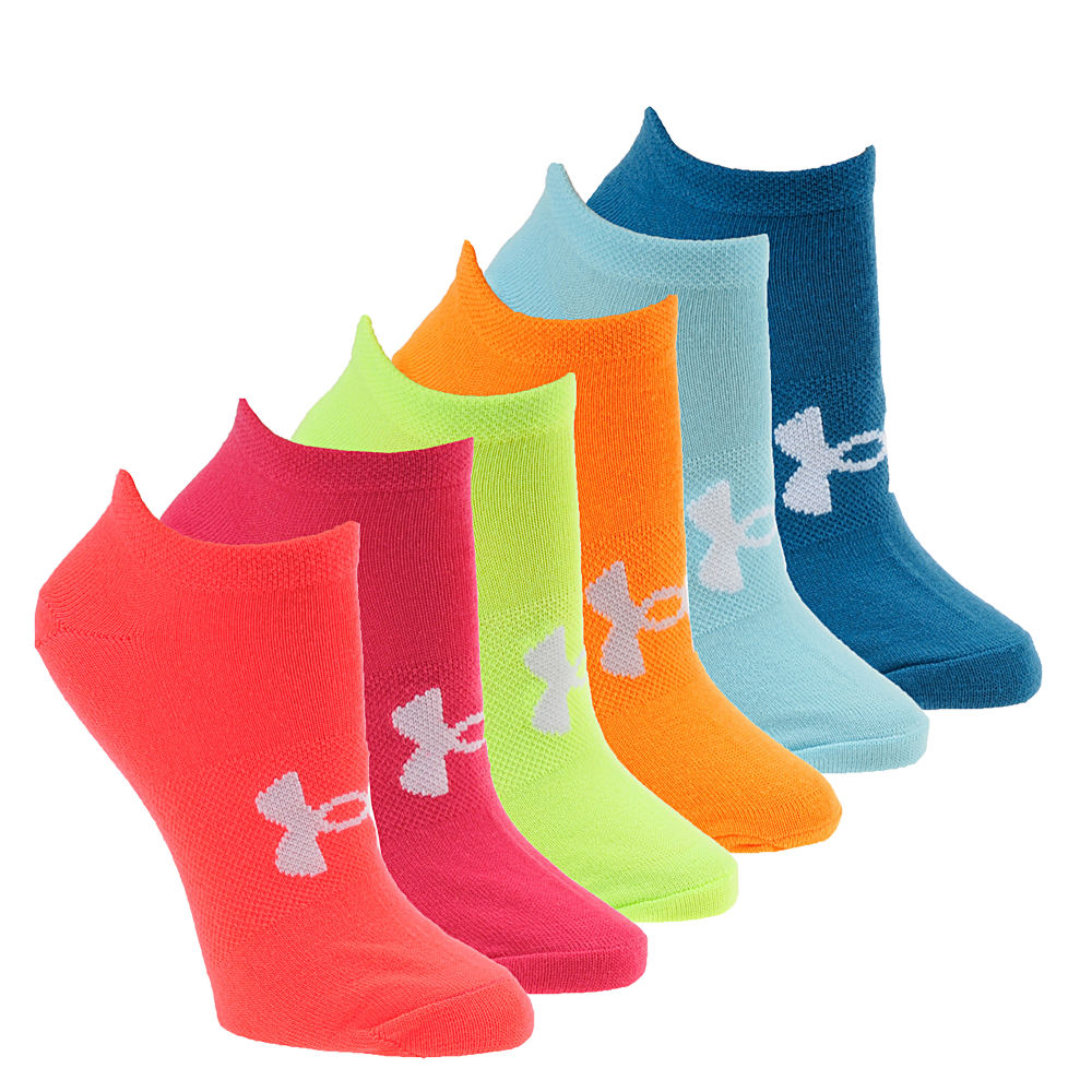 Under Armour Women's Essential No-Show Socks Green Socks M 550031MNTMED