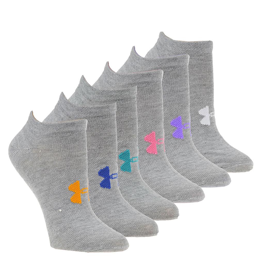 Under Armour Women's Essential No-Show Socks Grey Socks M 550030HGRMED