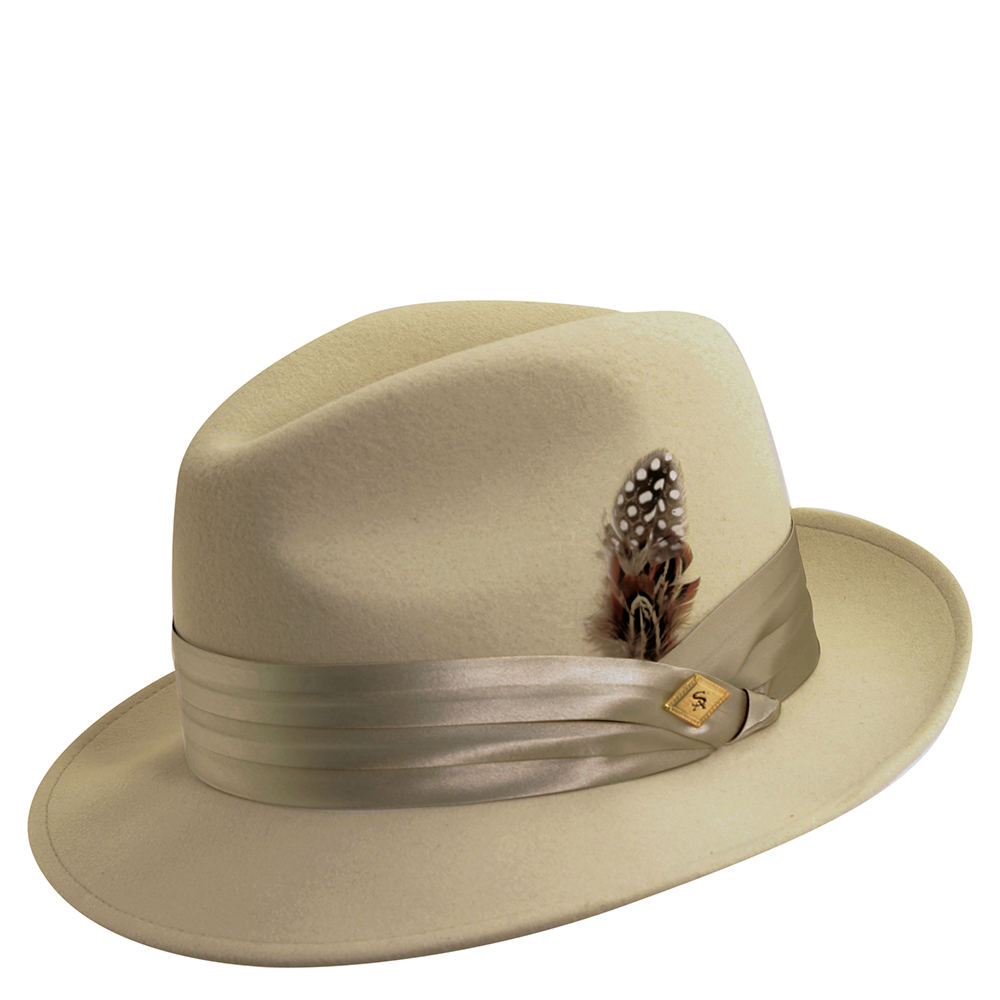 Stacy Adams Men's Wool Felt Fedora Grey Hats L 643390CMTLRG