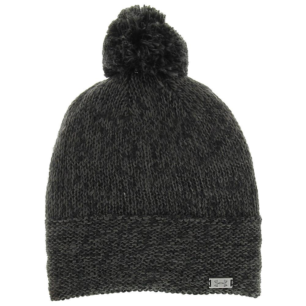 Under Armour Women's Studiolux Beanie Black Hats One Size 527298BLK