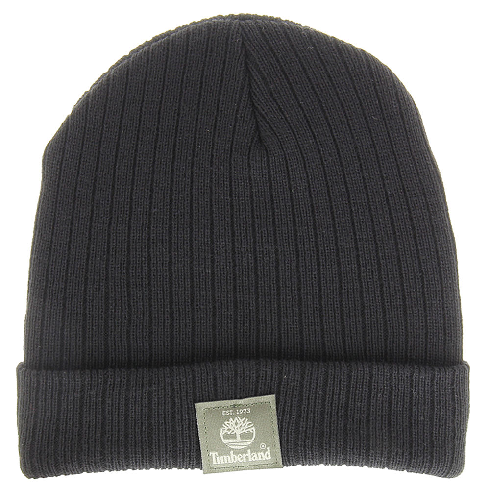 Timberland TH340255 Ribbed Watchcap (Men's) Black 643672