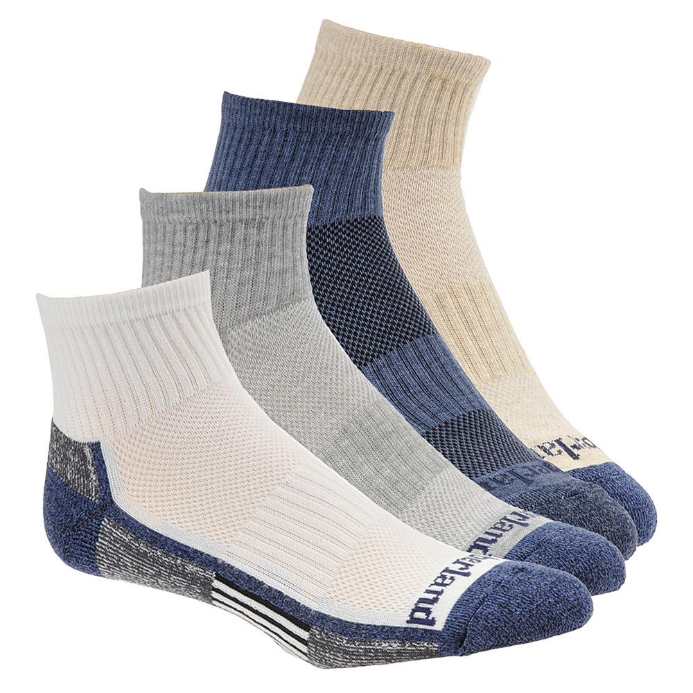 Timberland TM3134A Low Quarter Socks 4-Pack Men's Multi Socks One Size 643790ASD