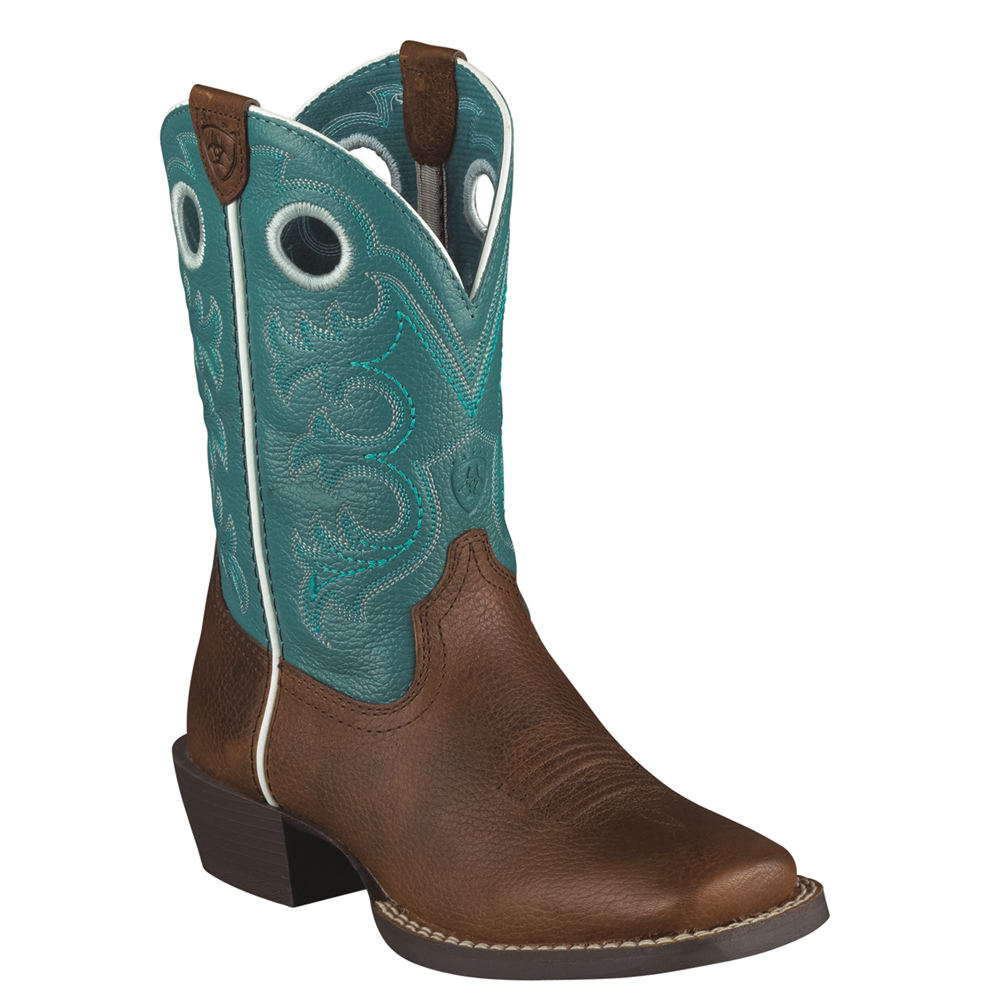 Ariat Crossfire Unisex Toddler-Youth Brown Boot 8.5 Toddl...