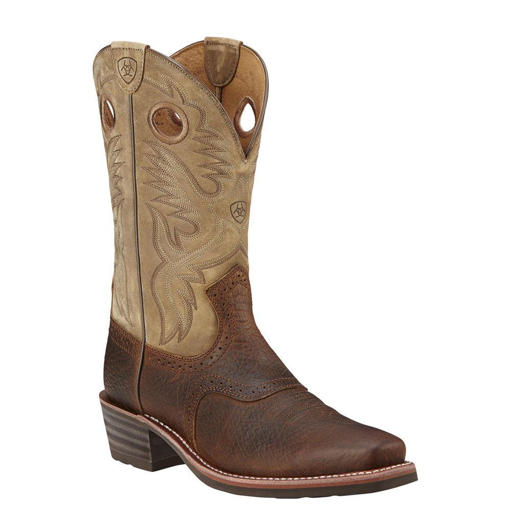Ariat Heritage Roughstock W Sq Toe Men's Brown Boot 10 E2