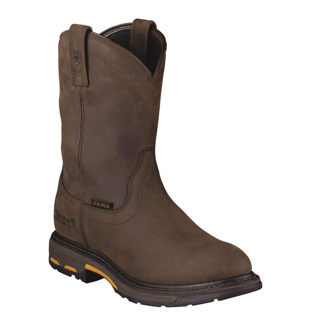 Ariat Workhog Pull On H2O Men's Brown Boot 11 D