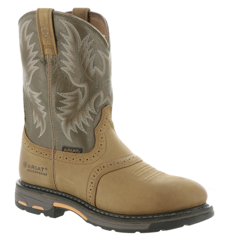 Ariat Workhog Pull On H2O Men's Brown Boot 12 B