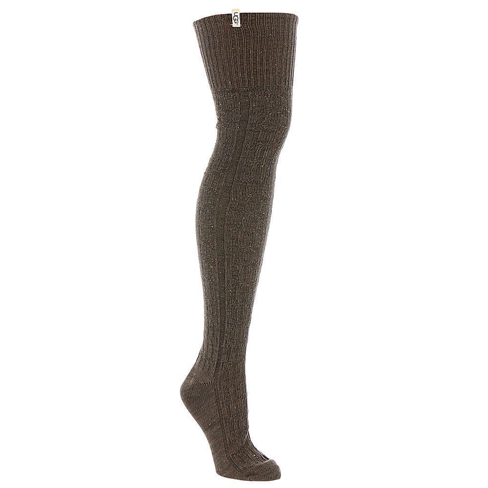 UGG Women's Slouchy Speckle Thigh High Sock Brown Socks One Size 529040BRN