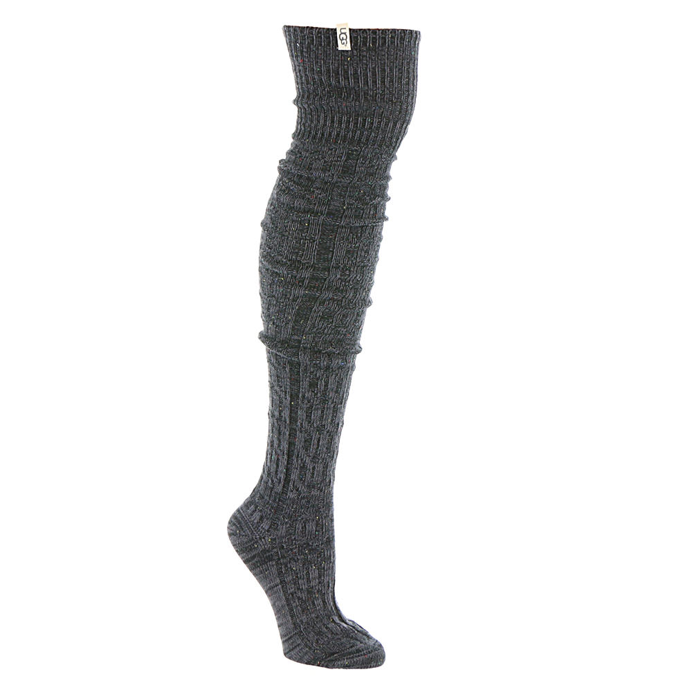 UGG® Women's Slouchy Speckle Thigh High Sock 529039BLK
