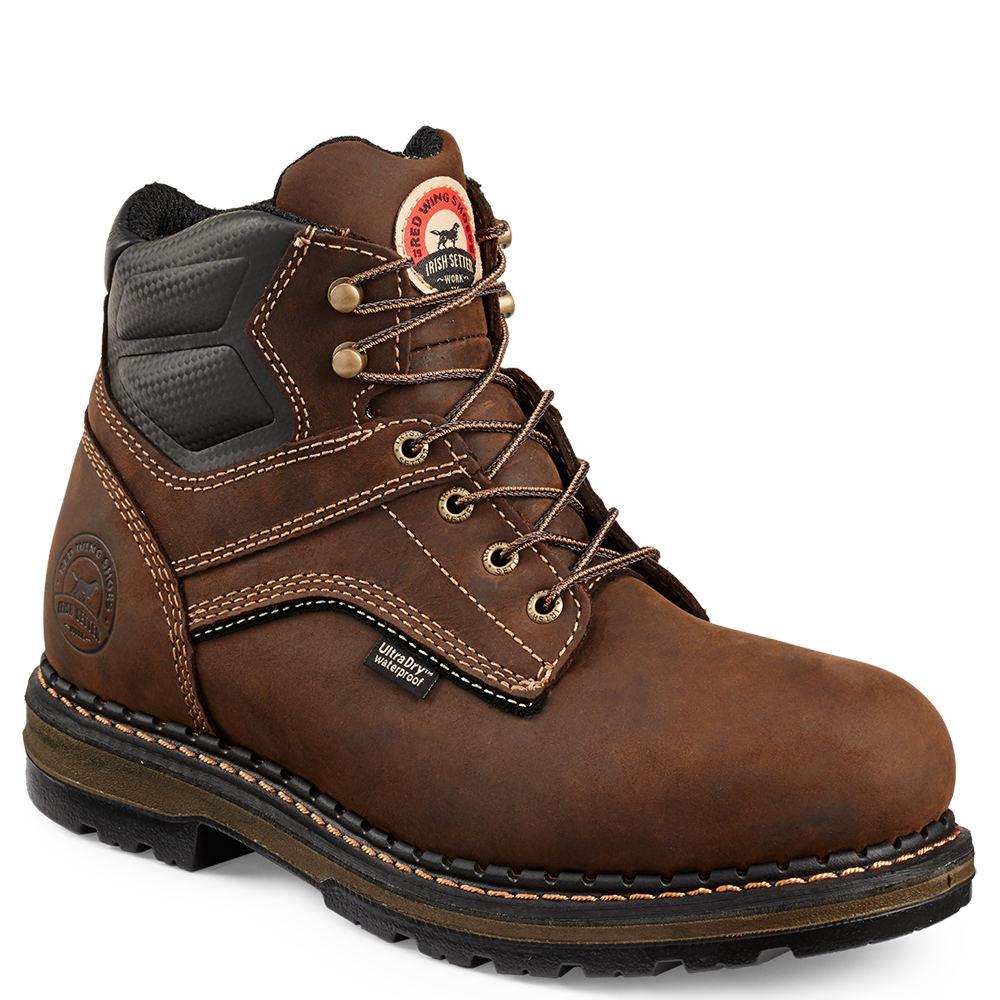 "Irish Setter 6"" Ramsey ST Men's Brown Boot 9 E2"