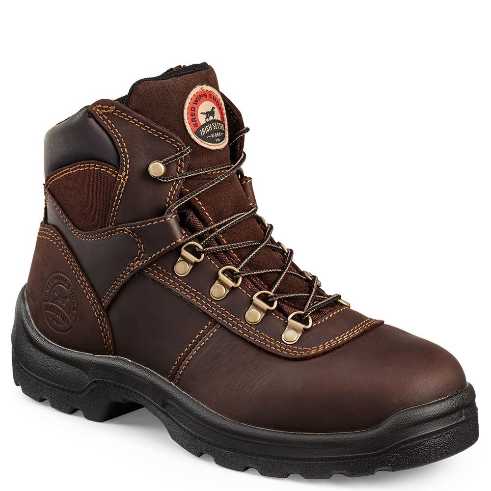 """Irish Setter 6"""" Ely ST Men's Brown Boot 7 D"""