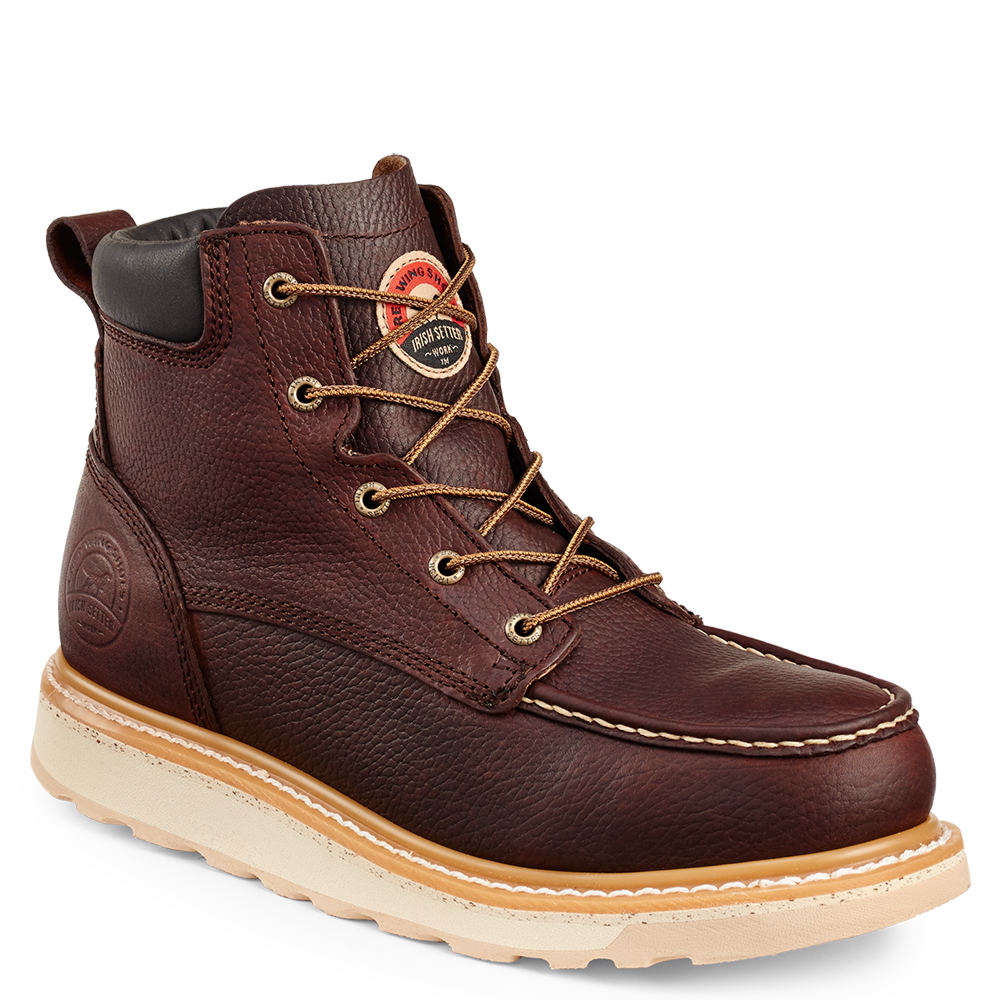 "Irish Setter 6"" Ashby ST Men's Brown Boot 10 D"