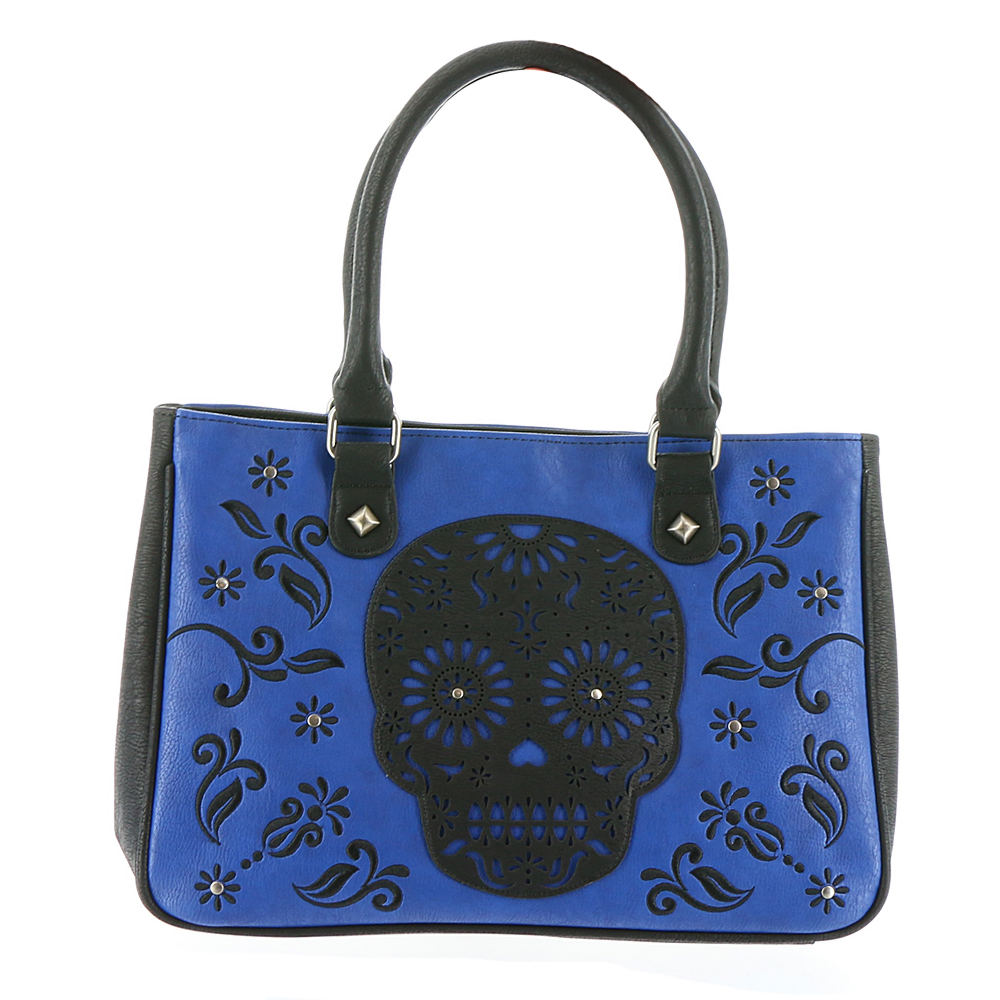 Loungefly Skull Laser Cut Tote Bag Blue Bags No Size