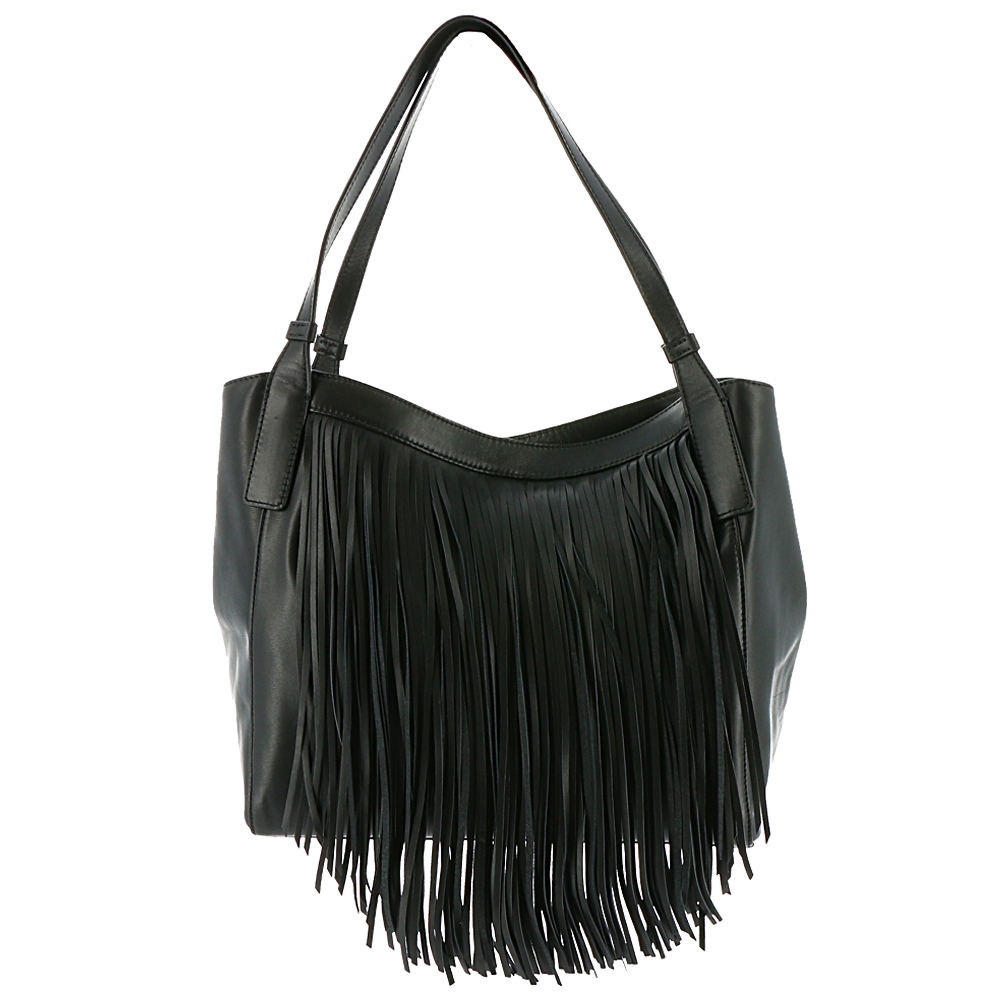 Frye Ray Fringe Shoulder Bag Black Bags No Size 530508BLK