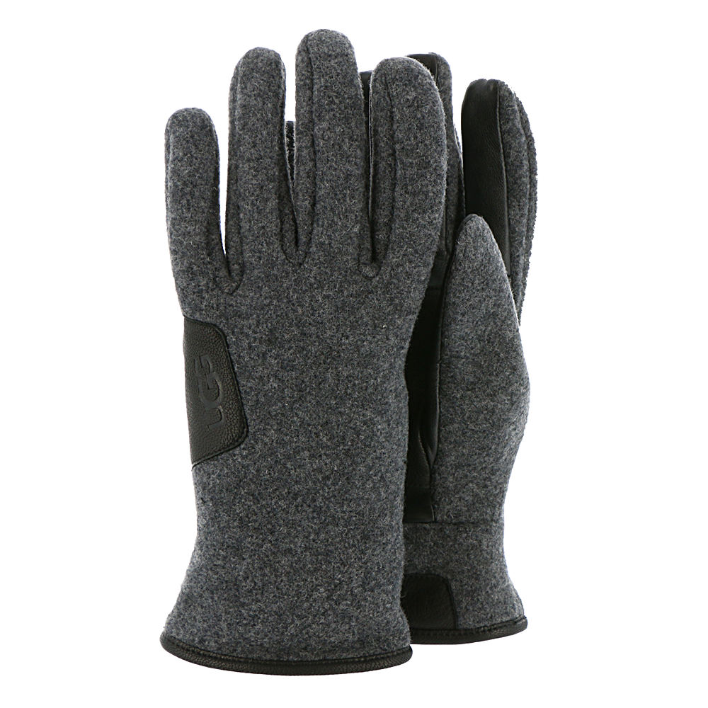UGG Men's Leather-Trimmed Fabric Smart Glove Grey Misc Ac...