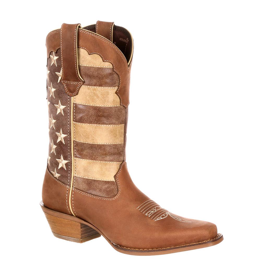 Durango Crush Union Flag Women's Tan Boot 10 M