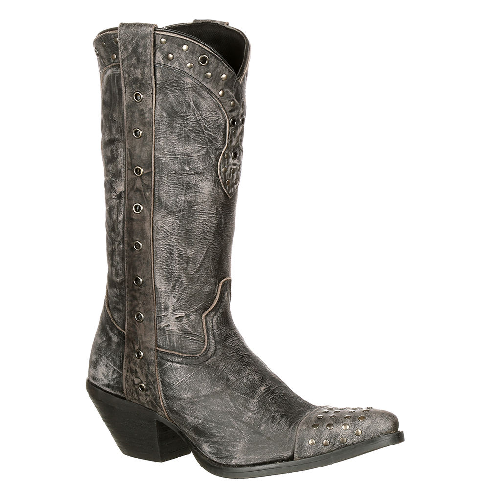 Durango Crush Punk Studded Women's Grey Boot 6 M