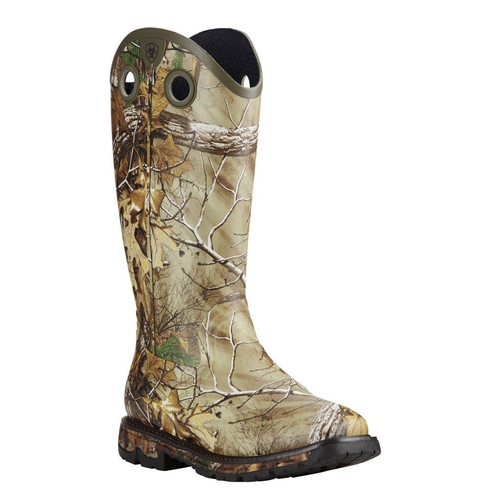 Ariat Conquest Rubber Buckaroo Men's Brown Boot 10.5 E2