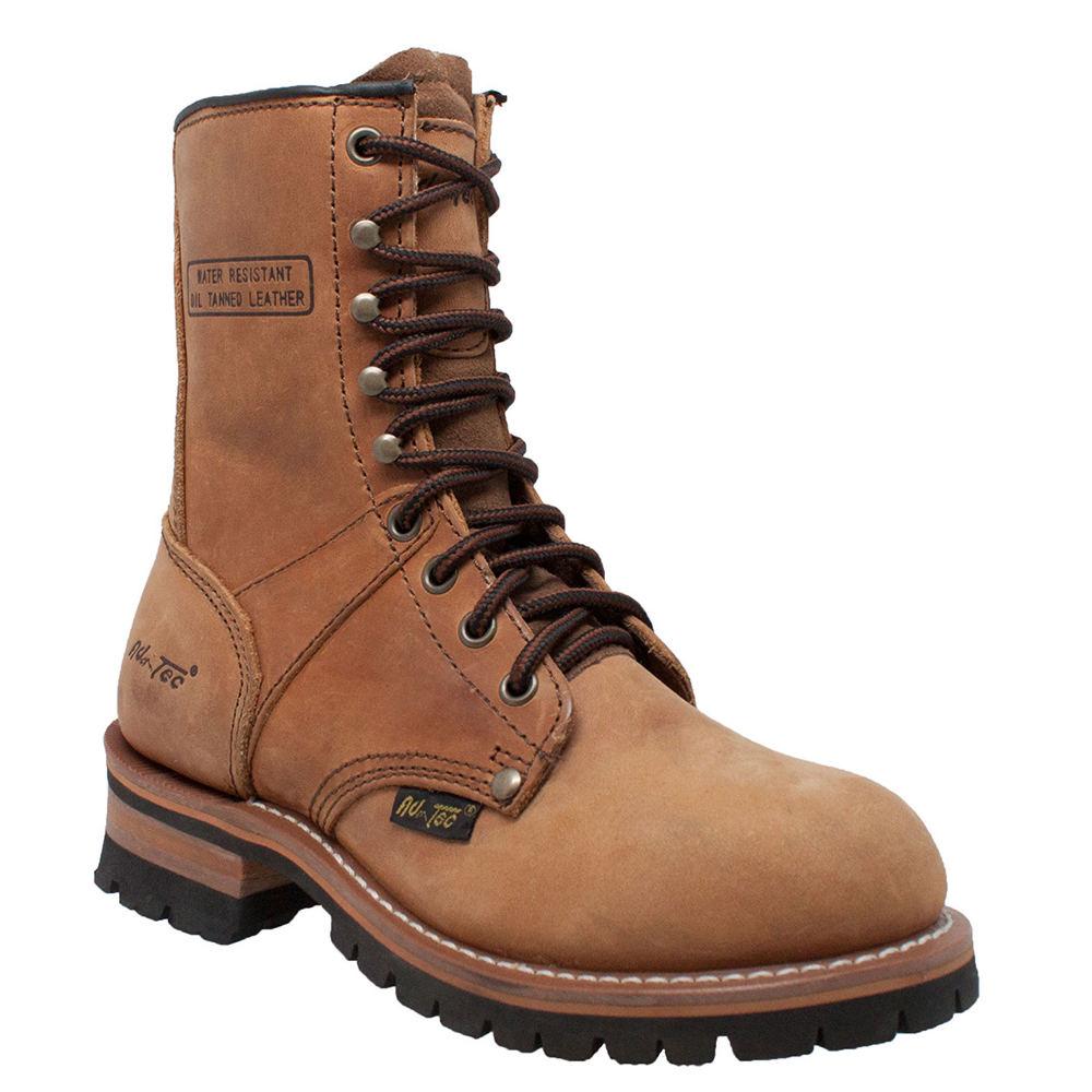 "Adtec 9"" Logger  Women's Brown Boot 9.5 M"
