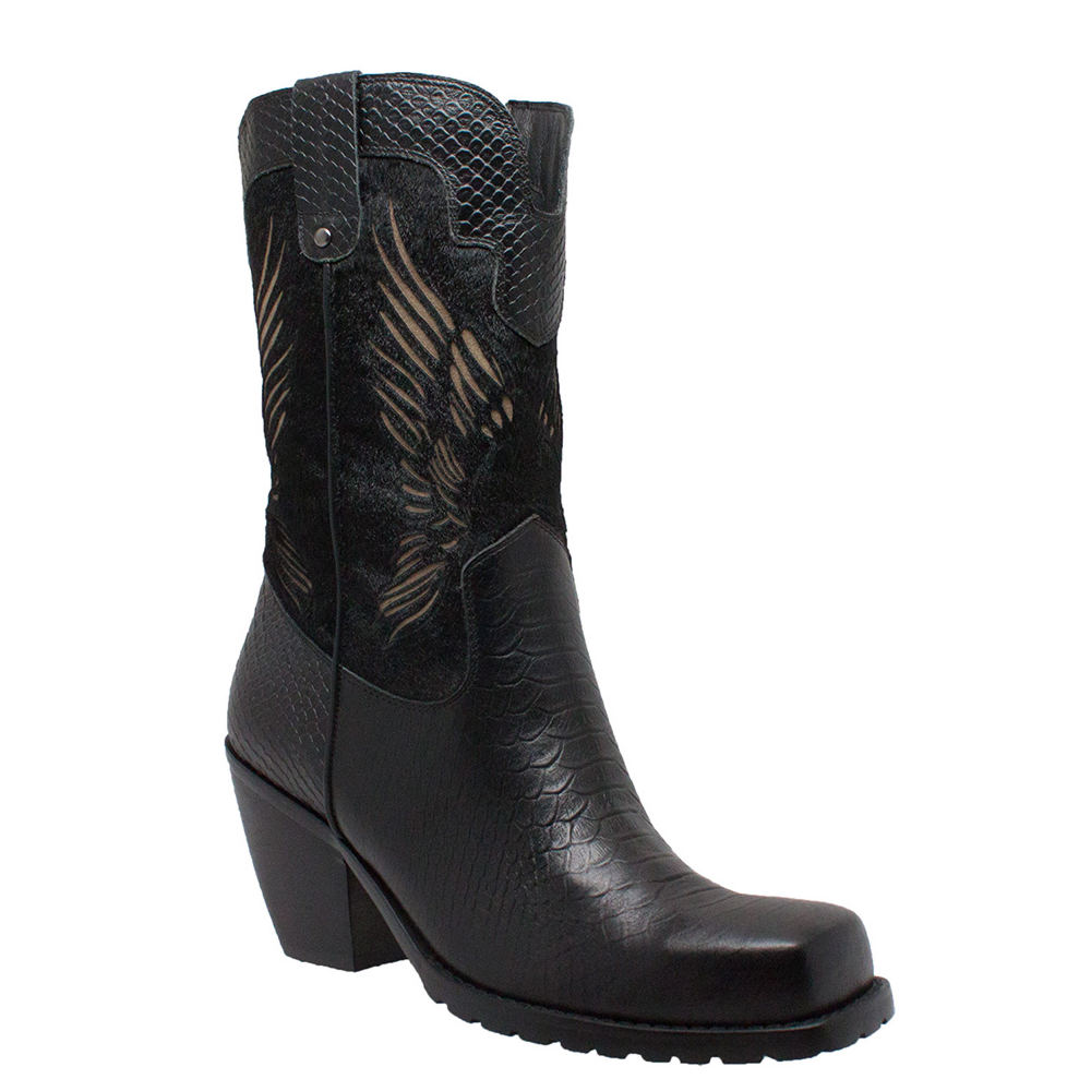 "Ride Tecs 11"" Laser Eagle  Women's Black Boot 10 M"