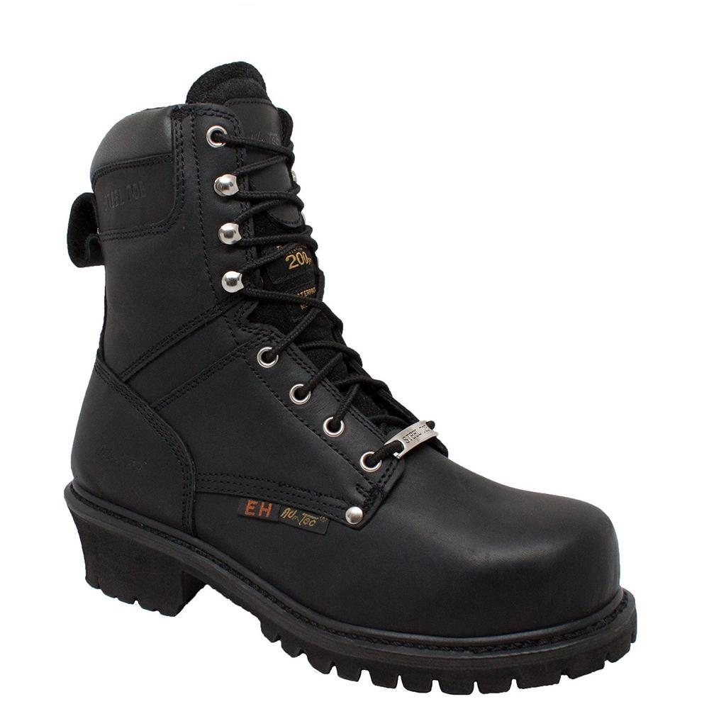 "Adtec 9"" Steel Toe Super Logger Men's Black Boot 9 M"