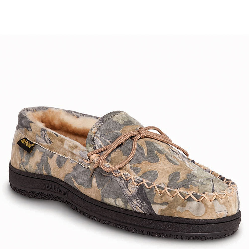 Old Friend Camouflage Moccasin Men's Brown Slipper 13 M
