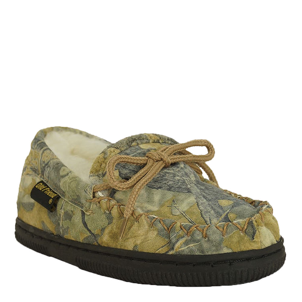 Old Friend Camouflage Loafer Kids Toddler-Youth Brown Sli...