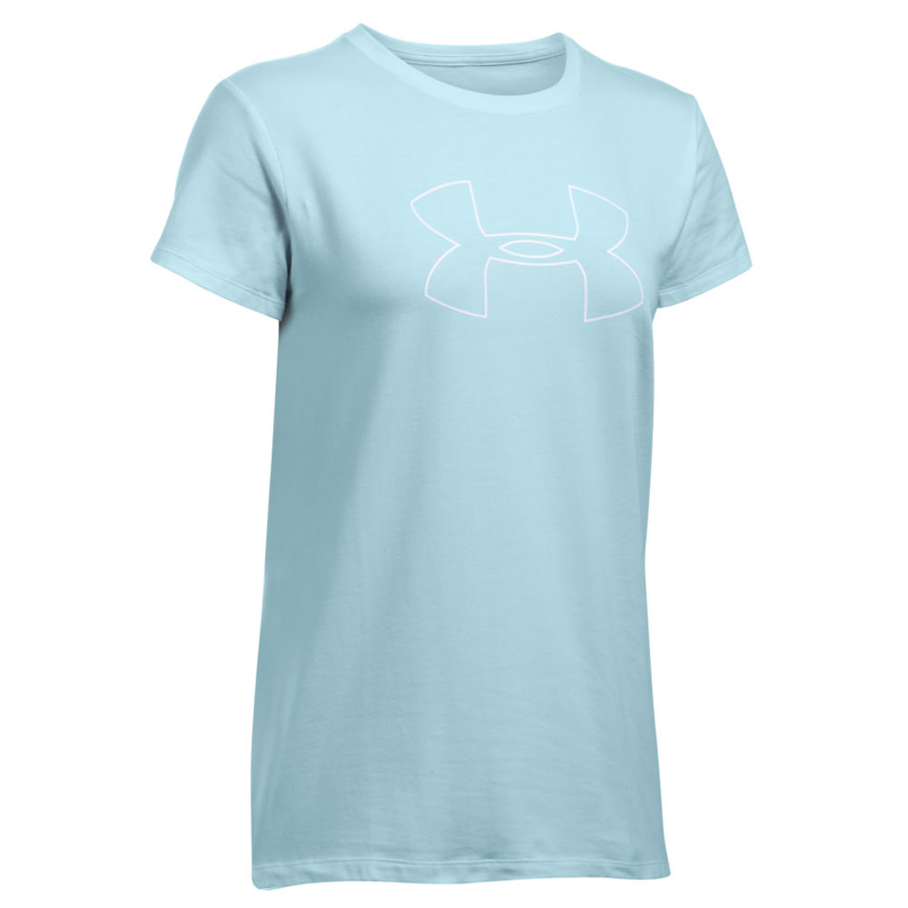 Under Armour UA Favorite Big Logo SS Blue Knit Tops L 711236SKLL