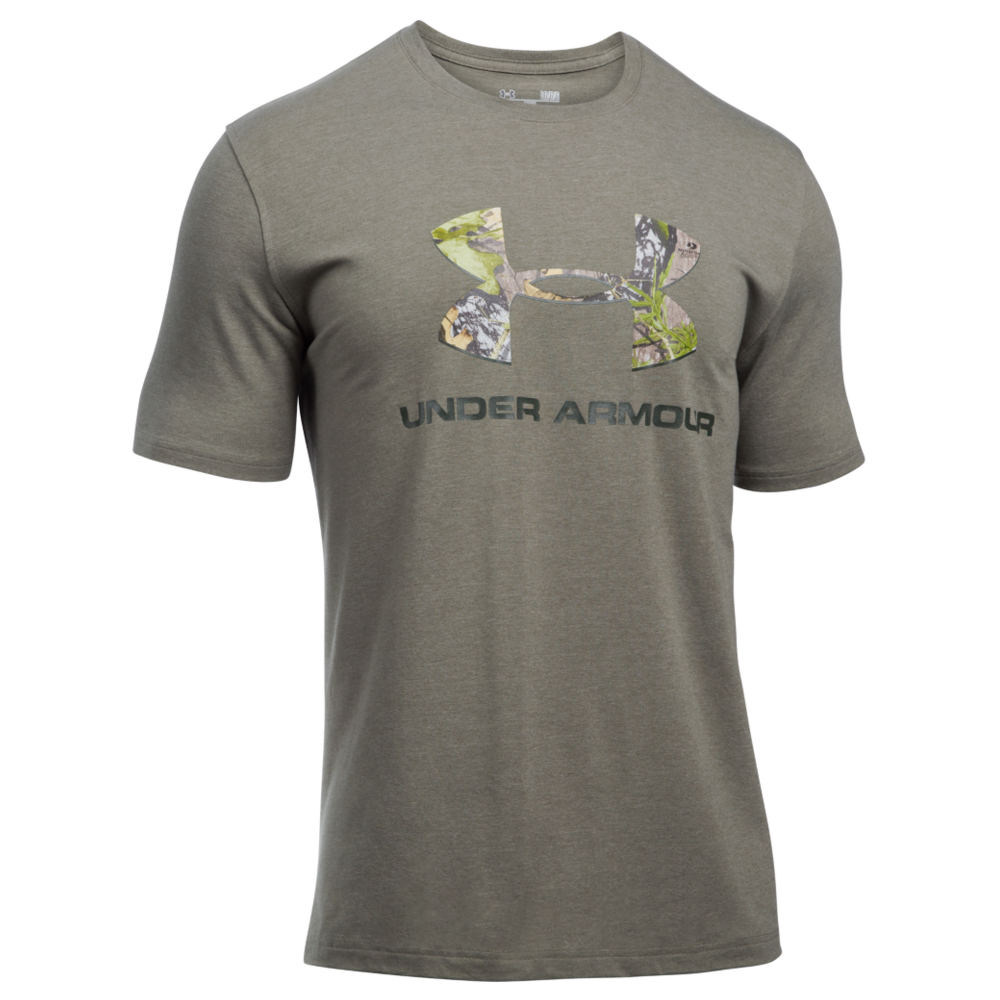 Under Armour Men's Camo Fill Logo Tee Green Knit Tops M 711240GRNM
