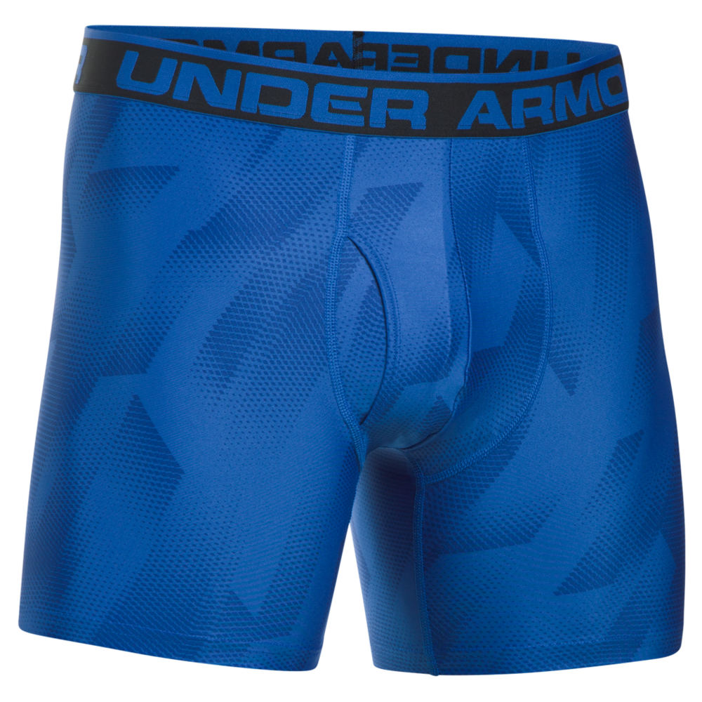"Under Armour Men's The Original 6"" Boxerjock Print Blue Underwear M 711248BLUM"