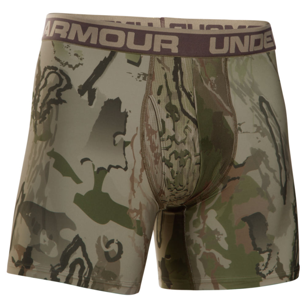 "Under Armour Men's Camo Boxerjock 2.0 6"" Green Underwear XXXL 711239CAM3XL"