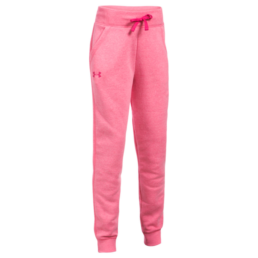 Under Armour Girls' Favorite Fleece Jogger Pink Pants S-Regular 822697GLHS